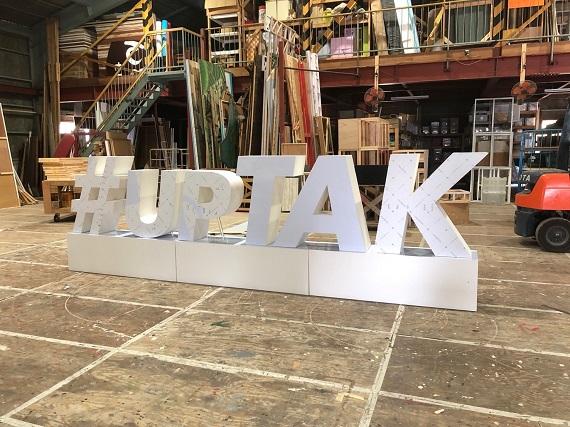 立体文字 制作 #upTAK(香川県) 01