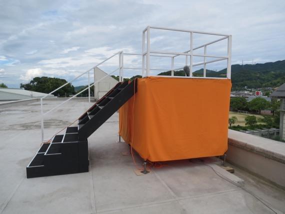 番組ロケ 仮設ステージ&カメラ台(高知県)