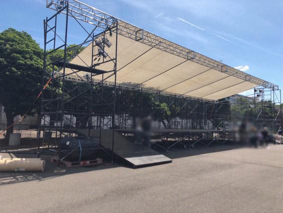 祭り仮設ステージ(坂出市)